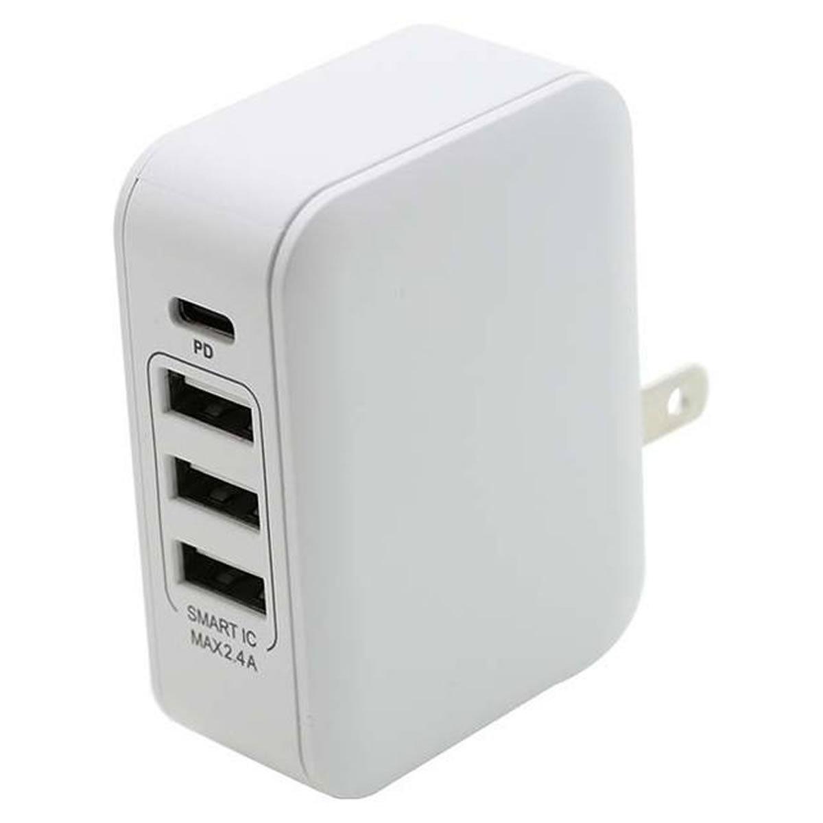 PD対応Type-C/3USBポートAC充電器30W